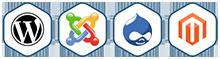 WordPress, Joomla, Drupal, Magento